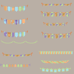 color bunting set pack