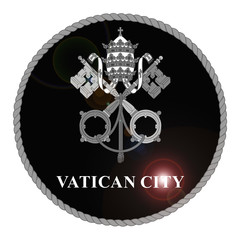 Monochrome Vatican City emblem