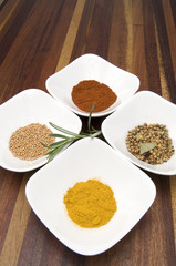 Colorful Spices for International Cooking