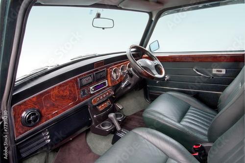 クラシックカーの車内 car interior