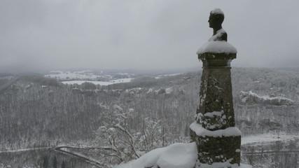 Old Statue at Lichteinstein Castle in Germany