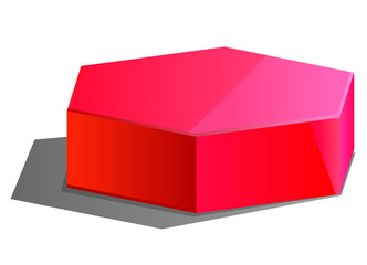 Red Hexagon 3D