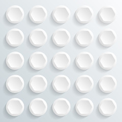 Infographics Vector Background #White Buttons