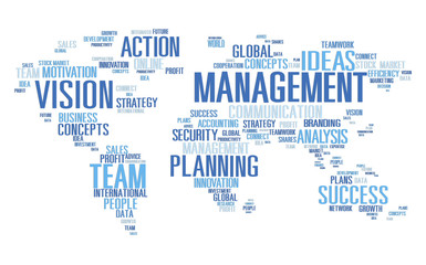 Global Management Training Vision World Map Concept