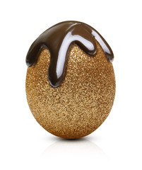 Easter golden egg isolated