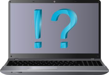 laptop i znaki