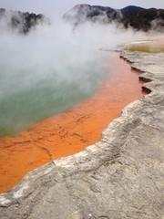 thermal lake in Rotorura, New Zealand