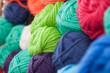 canvas print picture - Bunte Wolle zum stricken
