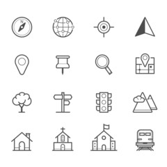 Map Icons and Location Icons