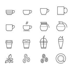 Coffee and Coffee cup Icons