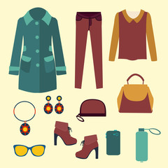 vector vector fashion clothes and accessories for women for desi