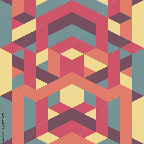 abstract retro geometric pattern - 77923672
