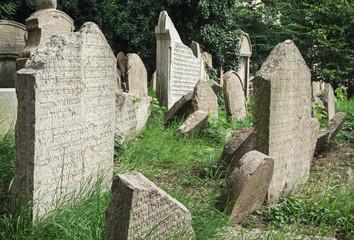 Jewish cemetery in Prague city