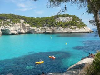 Tourists in Minorca