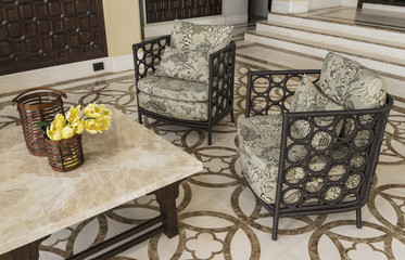 Set of furniture from rattan. Suitable for balcony and interior