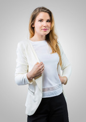 Young businesswoman in casual wear