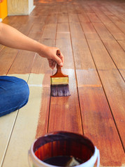 hand painting oil color on wood floor  use for home decorated ,h