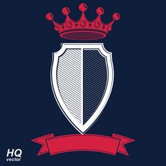 Empire design element. Heraldic royal coronet illustration - imp