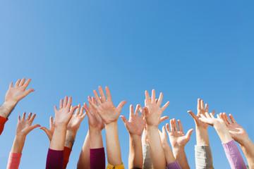 Hands up in the sky