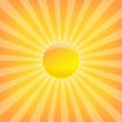 Sun Sunburst Pattern. Hot Summer template