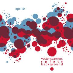 Bright contrast splattered web design repeat pattern, art ink bl