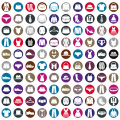 Clothes icons vector collection, vector icon set of fashion sign