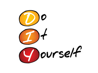 Do It Yourself (DIY), business concept acronym