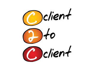 Client To Client (c2c), business concept acronym