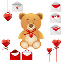 Teddy bear hearts collection