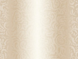 Luxury cream background with floral pattern poster