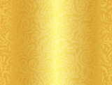 Luxury golden background with damask floral pattern