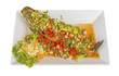 Fish Serve with Herb and Spicy Sauce