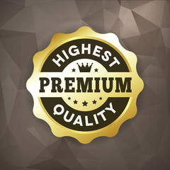 highest premium quality business gold label