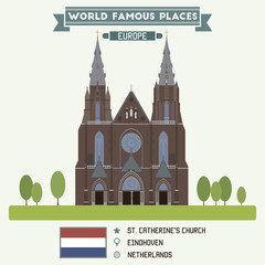 St. Catherines church. Eindhoven, Netherlands