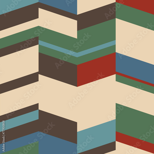 Retro geometric background © arturaliev
