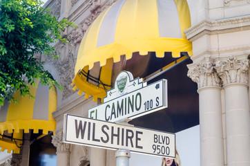 Wilshire Boulevard Sign, Beverly HIlls