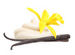 Vanilla pods,orchid flower and cream - 77931207