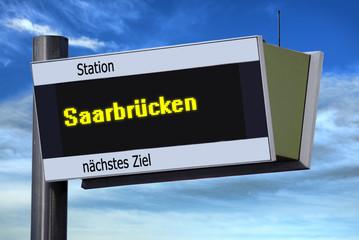 Anzeigetafel 6 - Saarbrücken