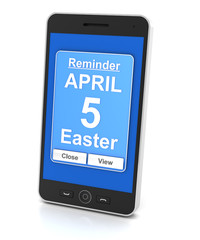 Smartphone reminder for Easter day 2015