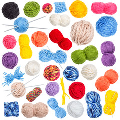 Collection of wool knitting