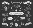 Hand Drawn Chalkboard Catchwords - 77934020