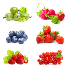 Different type of berry fruits isolated