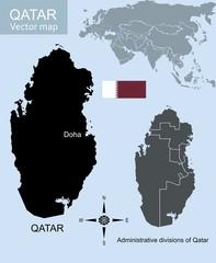 Qatar vector map