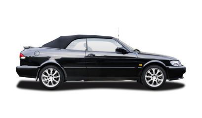 Isolated Sweedish cabrio sport car