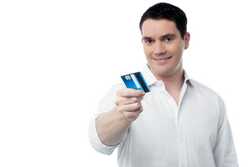 Take my cash card for shopping.