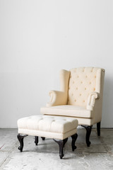 beige retro chair