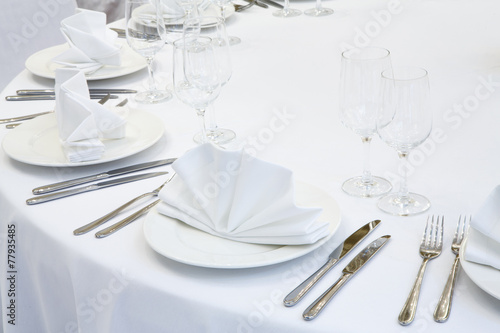 Beautifully organized event - served festive table - 77935485