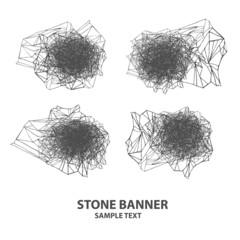 stone line cloud set