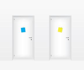 White doors illustration