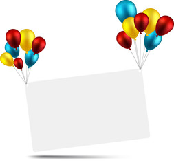 Celebrate card background with balloons.